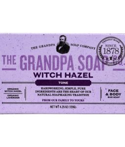 GRANDPA'S, FACE & BODY BAR SOAP, TONE, WITCH HAZEL, 4.25 OZ / 120g