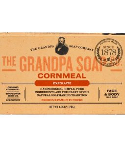 GRANDPA'S, FACE & BODY BAR SOAP, EXFOLIATE, CORNMEAL, 4.25 OZ / 120g