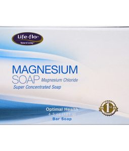 LIFE-FLO, MAGNESIUM SOAP, MAGNESIUM CHLORIDE, SUPER CONCENTRATED BAR SOAP, 4.3 OZ / 121g
