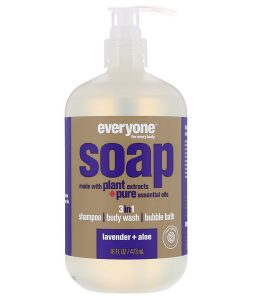 EO PRODUCTS, EVERYONE SOAP, 3 IN 1, LAVENDER + ALOE, 16 FL OZ / 473ml