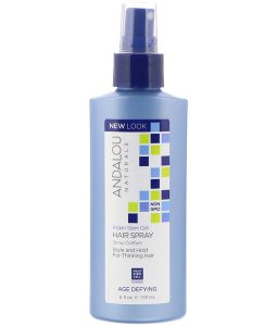 ANDALOU NATURALS, ARGAN STEM CELLS HAIR SPRAY, AGE DEFYING, 6 FL OZ / 178ml