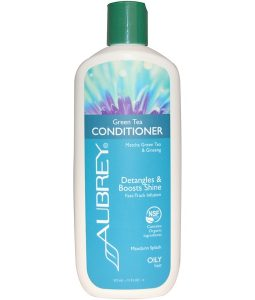 AUBREY ORGANICS, GREEN TEA CONDITIONER, MATCHA GREEN TEA & GINSENG, MANDARIN SPLASH, 11 FL OZ / 325ml