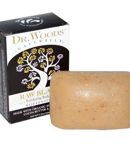 DR. WOODS, SHEA BUTTER SOAP, RAW BLACK, 5.25 OZ / 149g