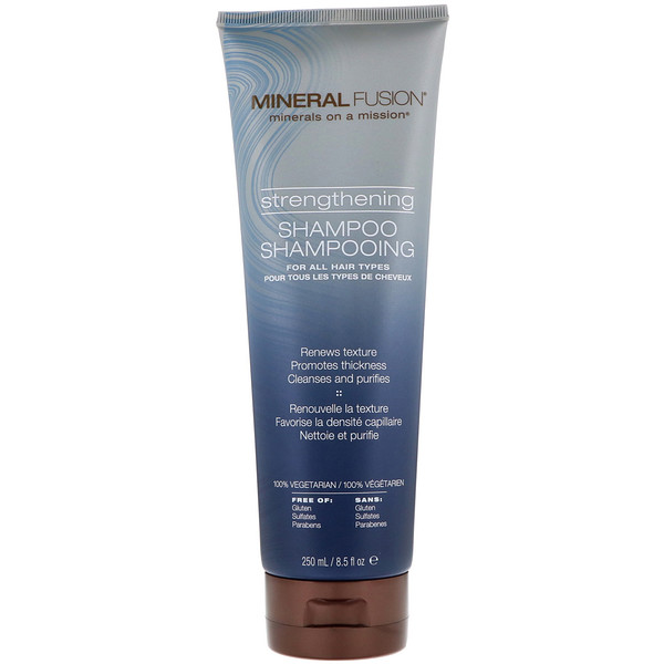 MINERAL FUSION, STRENGTHENING SHAMPOO, FOR ALL HAIR TYPES, 8.5 FL OZ / 250ml
