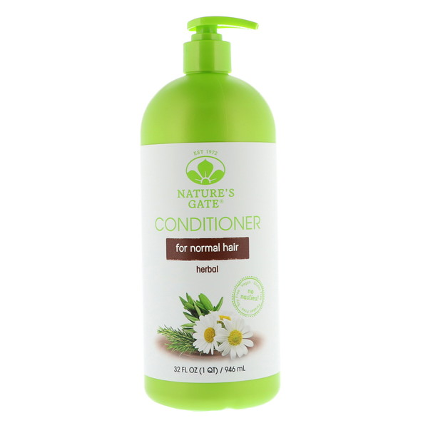 NATURE'S GATE, HERBAL CONDITIONER, FOR NORMAL HAIR, 32 FL OZ / 946ml