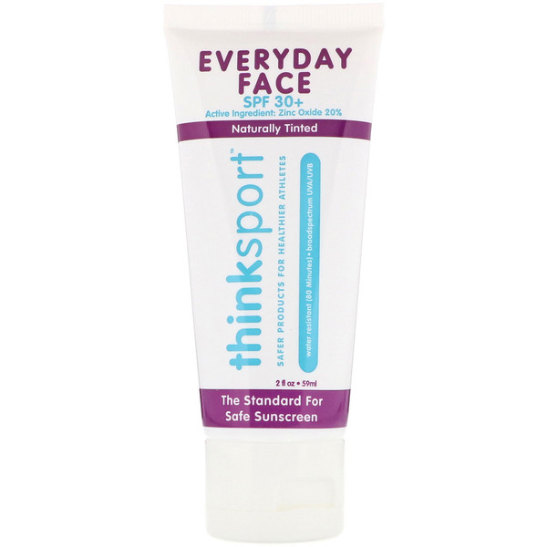 THINK, THINKSPORT, EVERYDAY FACE, SPF 30+, NATURALLY TINTED, 2 OZ / 59ml