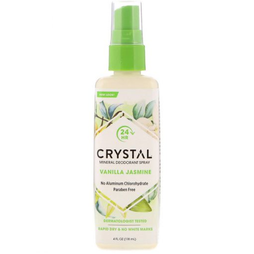 CRYSTAL BODY DEODORANT, MINERAL DEODORANT SPRAY, VANILLA JASMINE, 4 FL OZ / 118ml