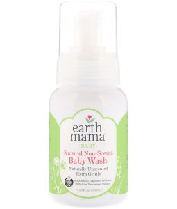 EARTH MAMA, BABY, NATURAL NON-SCENTS BABY WASH, UNSCENTED, 5.3 FL OZ / 160ml