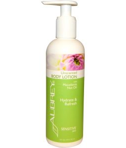 AUBREY ORGANICS, BODY LOTION WITH MACADAMIA NUT OIL, UNSCENTED, 8 FL OZ / 237ml