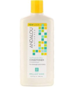 ANDALOU NATURALS, CONDITIONER, BRILLIANT SHINE, FOR STRENGTH AND VITALITY, SUNFLOWER & CITRUS, 11.5 FL OZ / 340ml