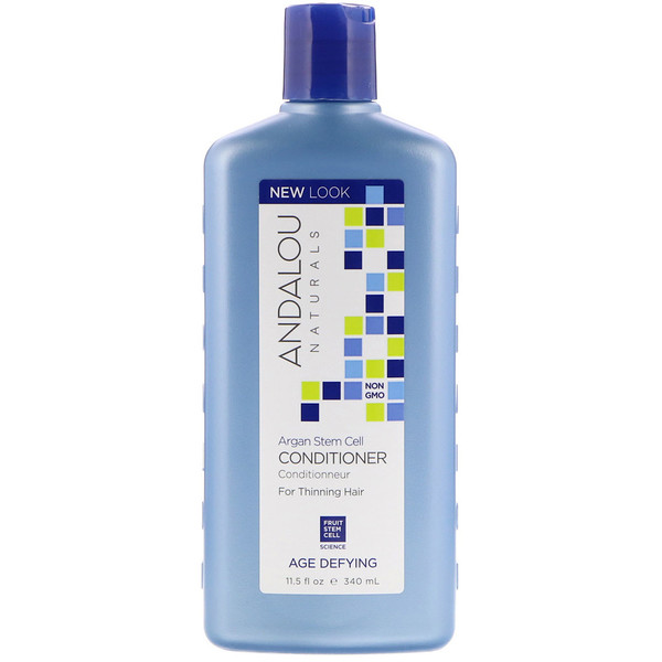 ANDALOU NATURALS, CONDITIONER,AGE DEFYING, FOR THINNING HAIR, ARGAN STEM CELLS, 11.5 FL OZ / 340ml