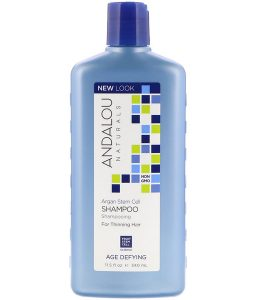 ANDALOU NATURALS, SHAMPOO, AGE DEFYING, FOR THINNING HAIR, ARGAN STEM CELL, 11.5 FL OZ / 340ml