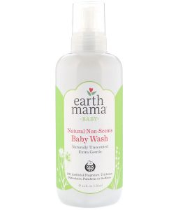 EARTH MAMA, BABY, NATURAL NON-SCENTS BABY WASH, UNSCENTED, 34 FL OZ / 1 L)