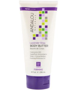 ANDALOU NATURALS, BODY BUTTER, FIRMING, LAVENDER SHEA, 8 FL OZ / 236ml