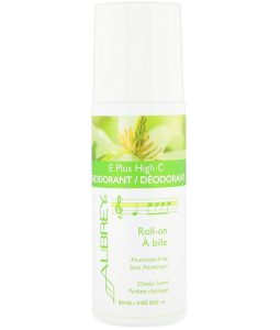 AUBREY ORGANICS, E PLUS HIGH C, NATURAL ROLL-ON DEODORANT, CLASSIC SCENT, 3 FL OZ / 89ml