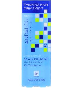 ANDALOU NATURALS, ARGAN STEM CELLS, SCALP INTENSIVE, THINNING HAIR TREATMENT, AGE DEFYING, 2.1 FL OZ / 62ml