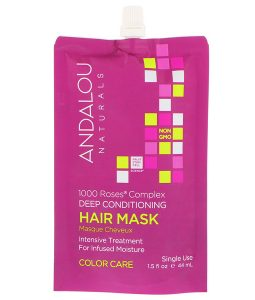 ANDALOU NATURALS, 1000 ROSES COMPLEX DEEP CONDITIONING, COLOR CARE, HAIR MASK, 1.5 FL OZ / 44ml