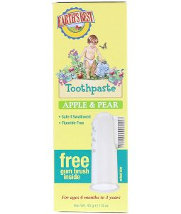 EARTH'S BEST, TOOTHPASTE, APPLE & PEAR, 1.6 OZ / 45g