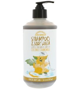 EVERYDAY COCONUT, SHAMPOO & BODY WASH, GENTLE FOR BABIES AND UP, COCONUT CHAMOMILE, 16 FL OZ / 475ml