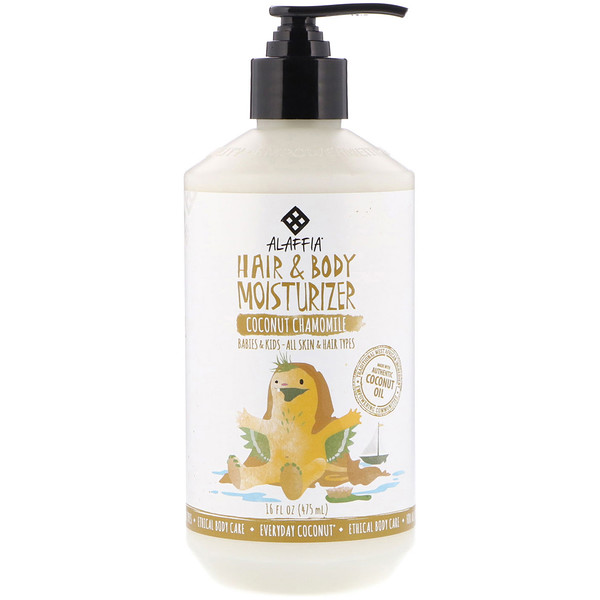 EVERYDAY COCONUT, HAIR & BODY MOISTURIZER, BABIES & KIDS, ALL SKIN & HAIR TYPES, COCONUT CHAMOMILE, 16 FL OZ / 475ml
