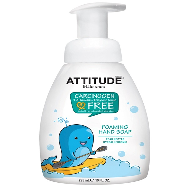 ATTITUDE, LITTLE ONES, FOAMING HAND SOAP, PEAR NECTAR, 10 FL OZ / 295ml
