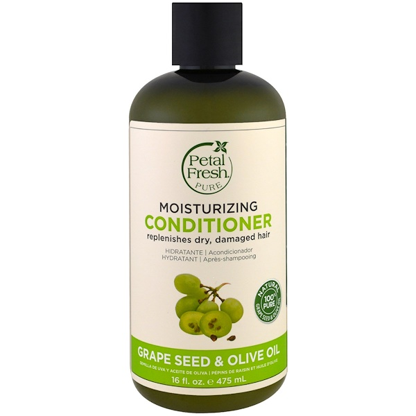 PETAL FRESH, PURE, MOISTURIZING CONDITIONER, GRAPE SEED & OLIVE OIL, 16 FL OZ / 475ml