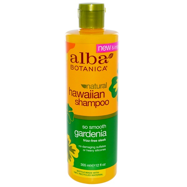 ALBA BOTANICA, NATURAL HAWAIIAN SHAMPOO, SO SMOOTH GARDENIA, 12 FL OZ / 355ml