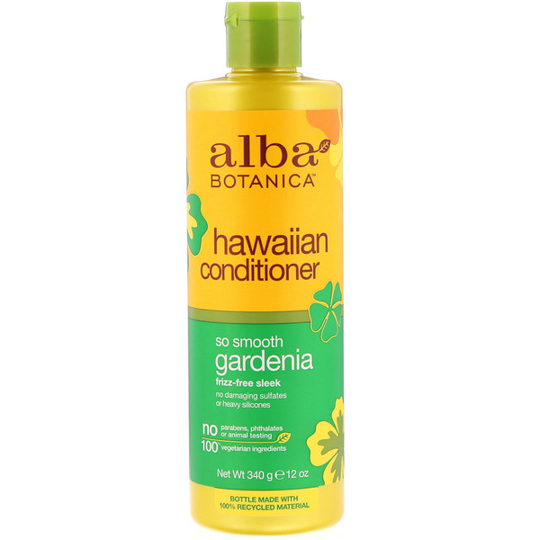 ALBA BOTANICA, GARDENIA HYDRATING, HAIR CONDITIONER, 12 FL OZ / 350ml