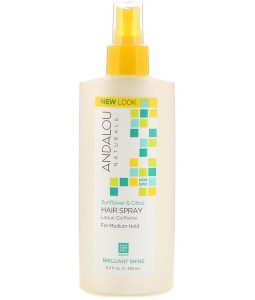 ANDALOU NATURALS, HAIR SPRAY, BRILLIANT SHINE, SUNFLOWER & CITRUS, MEDIUM HOLD, 8.2 FL OZ / 242ml