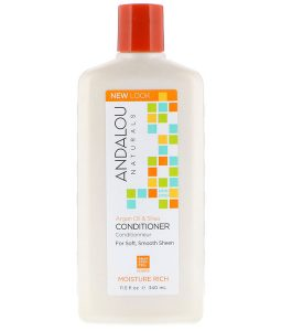 ANDALOU NATURALS, CONDITIONER, MOISTURE RICH, FOR SOFT, SMOOTH SHEEN, ARGAN OIL & SHEA, 11.5 FL OZ / 340ml