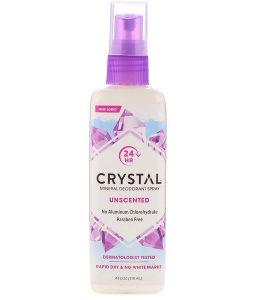 CRYSTAL BODY DEODORANT, MINERAL DEODORANT SPRAY, UNSCENTED, 4 FL OZ / 118ml