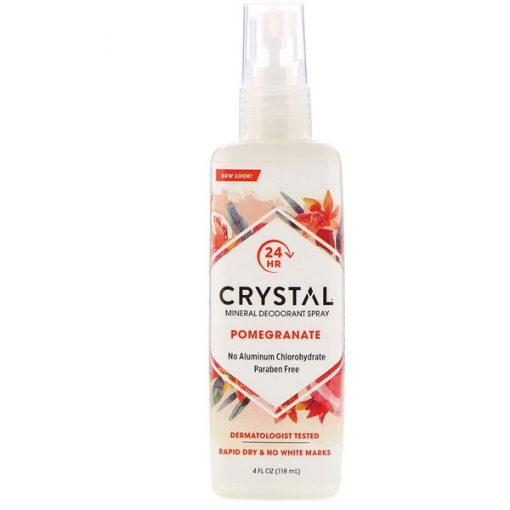 CRYSTAL BODY DEODORANT, MINERAL DEODORANT SPRAY, POMEGRANATE, 4 FL OZ / 118ml