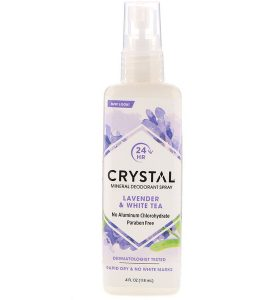 CRYSTAL BODY DEODORANT, MINERAL DEODORANT SPRAY, LAVENDER & WHITE TEA, 4 FL OZ / 118ml