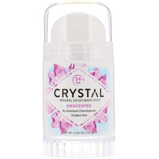 CRYSTAL BODY DEODORANT, MINERAL DEODORANT STICK, UNSCENTED, 4.25 OZ / 120g