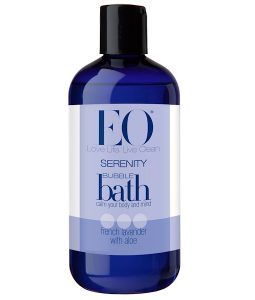 EO PRODUCTS, SERENITY BUBBLE BATH, FRENCH LAVENDER WITH ALOE, 12 FL OZ / 355ml