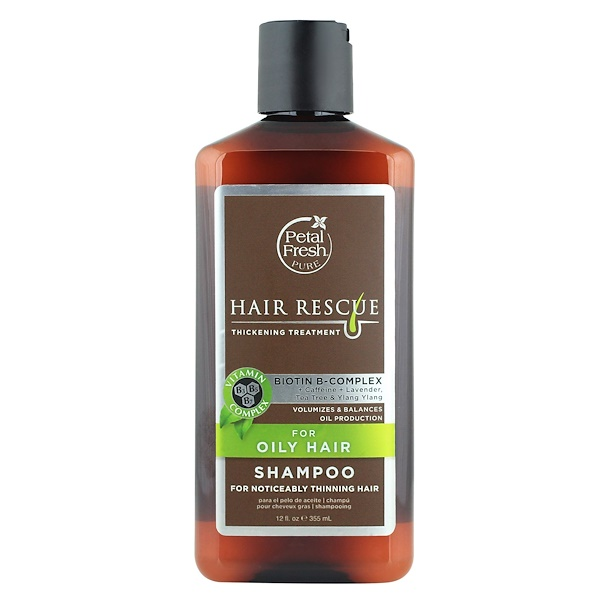 PETAL FRESH, PURE, HAIR RESCUE, THICKENING TREATMENT SHAMPOO, FOR OILY HAIR, 12 FL OZ / 355ml
