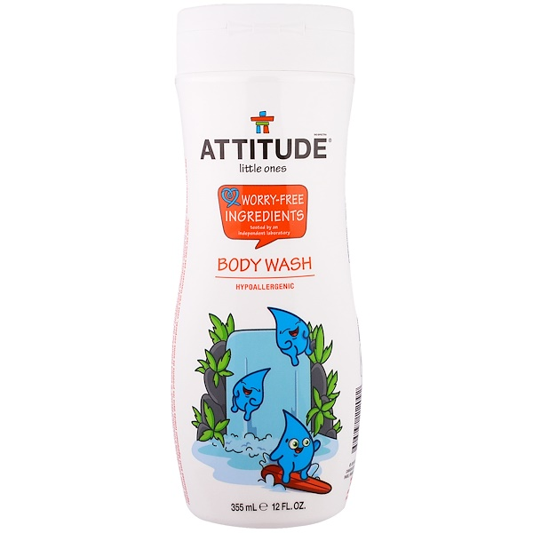 ATTITUDE, LITTLE ONES, BODY WASH, 12 FL OZ / 355ml
