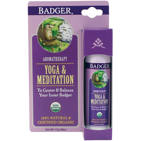 BADGER COMPANY, YOGA & MEDITATION, CEDARWOOD & MANDARIN, .60 OZ / 17g