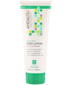 ANDALOU NATURALS, BODY LOTION, COOLING, ALOE MINT, 8 FL OZ / 236ml