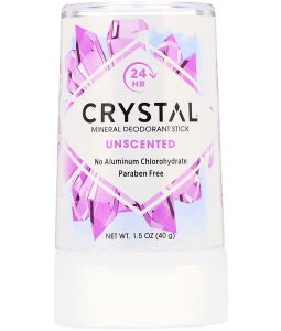 CRYSTAL BODY DEODORANT, MINERAL DEODORANT STICK, UNSCENTED, 1.5 OZ / 40g