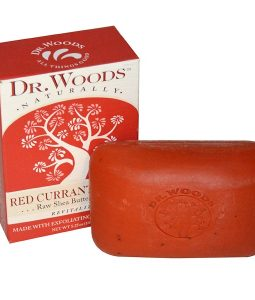 DR. WOODS, RAW SHEA BUTTER SOAP, RED CURRANT CLOVE, 5.25 OZ / 149g