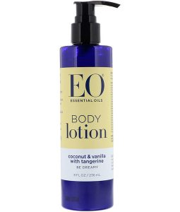 EO PRODUCTS, BODY LOTION, COCONUT & VANILLA WITH TANGERINE, 8 FL OZ / 236ml