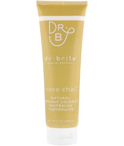 DR. BRITE, NATURAL ORGANIC COCONUT WHITENING TOOTHPASTE, COCO CHAI, 5 OZ / 142g