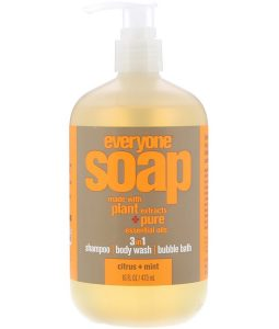 EO PRODUCTS, EVERYONE SOAP, 3 IN 1, CITRUS + MINT, 16 FL OZ / 473ml