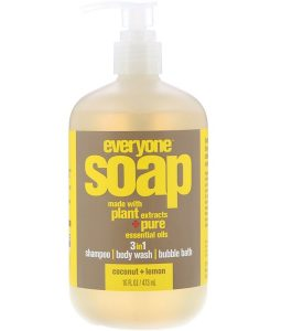 EO PRODUCTS, EVERYONE SOAP, 3 IN 1, COCONUT + LEMON, 16 FL OZ / 473ml