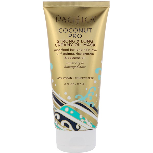 PACIFICA, COCONUT PRO, STRONG & LONG CREAMY OIL MASK, 6 FL OZ / 177ml