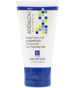 ANDALOU NATURALS, SHAMPOO, AGE DEFYING, FOR THINNING HAIR, ARGAN STEM CELL, 1.7 FL OZ / 50ml
