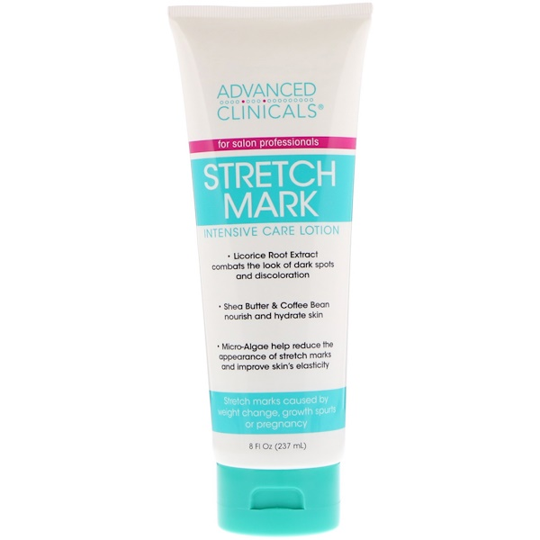 ADVANCED CLINICALS, STRETCH MARK, INTENSIVE CARE LOTION, 8 FL OZ / 237ml