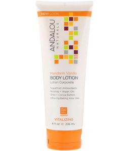 ANDALOU NATURALS, BODY LOTION, VITALIZING, MANDARIN VANILLA, 8 FL OZ / 236ml