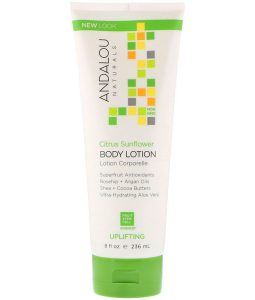 ANDALOU NATURALS, BODY LOTION, CITRUS SUNFLOWER, UPLIFTING, 8 FL OZ / 236ml
